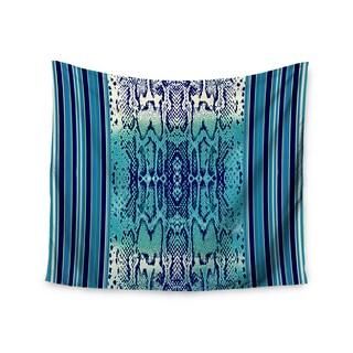 KESS InHouse Nina May 'Aqua Snake' Blue Teal 51x60-inch Tapestry