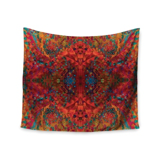 KESS InHouse Nikposium 'Red Sea' Orange Abstract 51x60-inch Tapestry