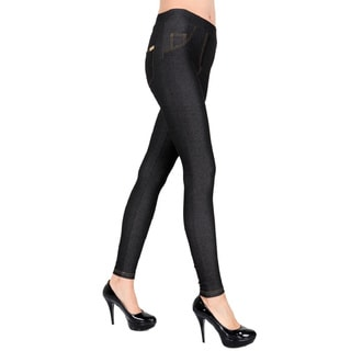 Pierre Cardin Kalika Black Denim Leggings