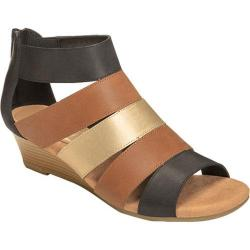 Women's Aerosoles Yet Forth Wedge Sandal Black Multi Leather
