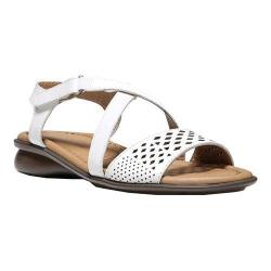 Women's Naturalizer Janessa Ankle Strap Sandal White Hispacho Leather