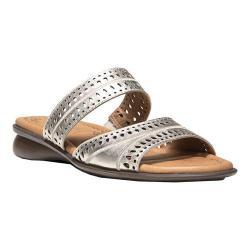 Women's Naturalizer Jenaya Slide Sandal Platina Foil Metallic Leather