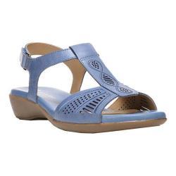 Women's Naturalizer Network T Strap Sandal Ocean Blue Gordon Leather