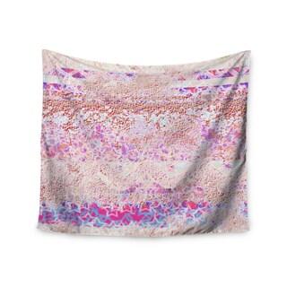 KESS InHouse Marianna Tankelevich 'Broken Pattern' Pink Purple 51x60-inch Tapestry
