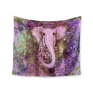 KESS InHouse Marianna Tankelevich 'Pink Dust Magic' Elephant Sparkle 51x60-inch Tapestry