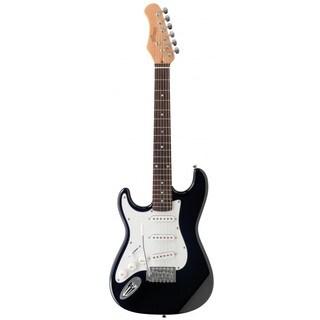 Stagg Standard S Black Left-handed 3/4-size Electric Guitar