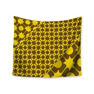 KESS InHouse Nacho Filella 'Pop' Yellow Vector 51x60-inch Tapestry