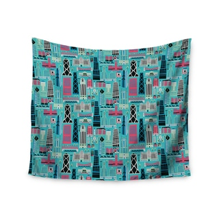 "Kess InHouse Allison Beilke ""My Kind of Chicago"" Blue Pink Wall Tapestry 51'' x 60''"