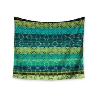 KESS InHouse Nina May 'Denin Diamond Gradient Green' Turquoise Emerald 51x60-inch Tapestry