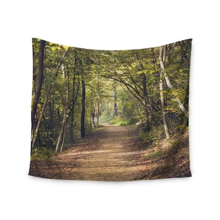 Kess InHouse Ann Barnes 'Forest Light' Nature Photography Trees Green 51x60-inch Wall Tapestry