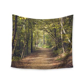 """Kess InHouse Ann Barnes """"Forest Light"""" Nature Photography Trees Green Wall Tapestry 51'' x 60''