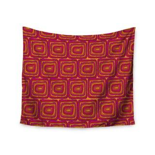 KESS InHouse Nandita Singh 'Bright Squares' Red Pink 51x60-inch Tapestry