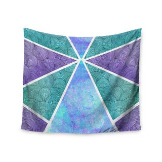 Kess InHouse Pom Graphic Design 'Reflective Pyramids' Teal Purple51x60-inch Wall Tapestry