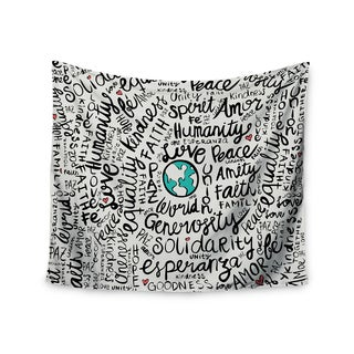 Kess InHouse Pom Graphic Design 'Positive World' 51x60-inch Wall Tapestry