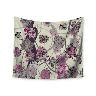 """Kess InHouse Angelo Cerantola """"Springtime Again"""" Pink Floral Wall Tapestry 51'' x 60''"""