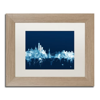 Michael Tompsett 'New York Skyline Navy' Matted Framed Art