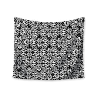 Kess InHouse Mydeas 'Diamond Illusion Damask Black & White' 51x60-inch Wall Tapestry