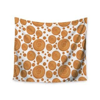 """Kess InHouse Alisa Drukman """"Gold Pattern"""" Orange Geometric Wall Tapestry 51'' x 60''"""