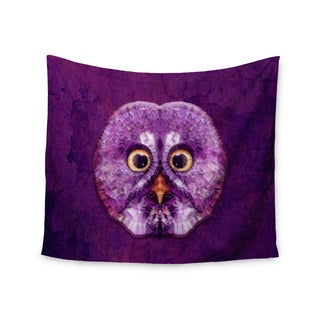 "Kess InHouse Ancello ""Hoot!"" Owl Purple Wall Tapestry 51'' x 60''"