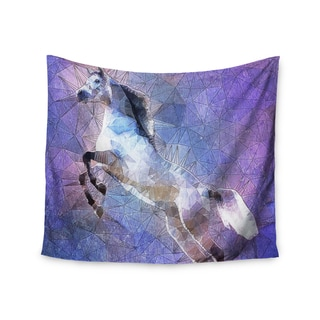 "Kess InHouse Ancello ""Abstract Horse"" Purple Blue Wall Tapestry 51'' x 60''"