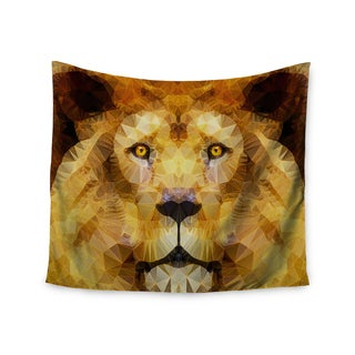 "Kess InHouse Ancello ""Lion King"" Yellow Brown Wall Tapestry 51'' x 60''"