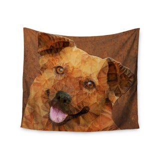 "Kess InHouse Ancello ""Abstract Puppy"" Brown Geometric Wall Tapestry 51'' x 60''"