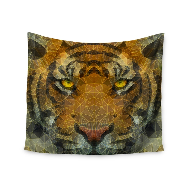 "Kess InHouse Ancello ""Be Wild"" Orange Geometric Wall Tapestry 51'' x 60''"
