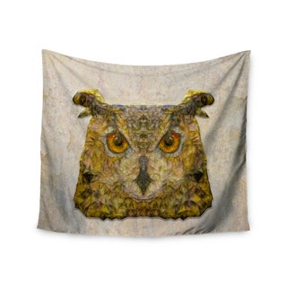 "Kess InHouse Ancello ""Abstract Owl"" Brown Wall Tapestry 51'' x 60''"