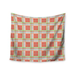 "Kess InHouse afe images ""Summer Plaid Pattern"" Coral Pattern Wall Tapestry 51'' x 60''"