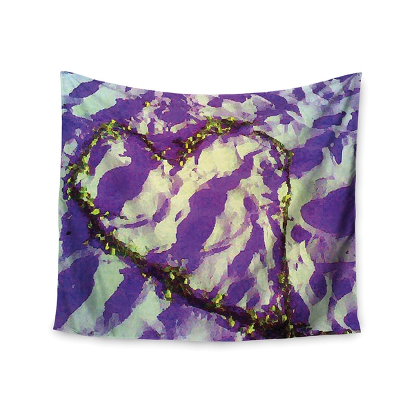 "Kess InHouse Anne LaBrie ""Purple Tiger Love"" Purple Yellow Wall Tapestry 51'' x 60''"
