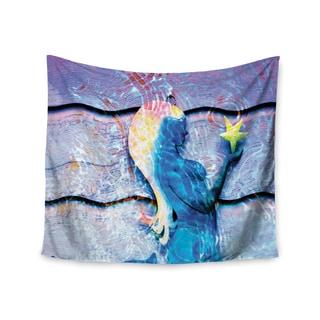 """Kess InHouse Anne LaBrie """"Mermaid Starlight"""" Aqua Blue Wall Tapestry 51'' x 60''"""