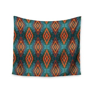 "Kess InHouse Anne LaBrie ""Diamond Sea"" Blue Orange Wall Tapestry 51'' x 60''"