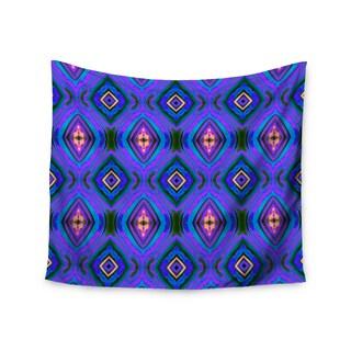 "Kess InHouse Anne LaBrie ""Dark Diamond"" Purple Blue Wall Tapestry 51'' x 60''"