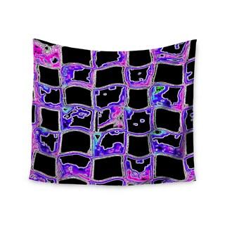 """Kess InHouse Anne LaBrie """"The Matrix"""" Purple Digital Wall Tapestry 51'' x 60''"""