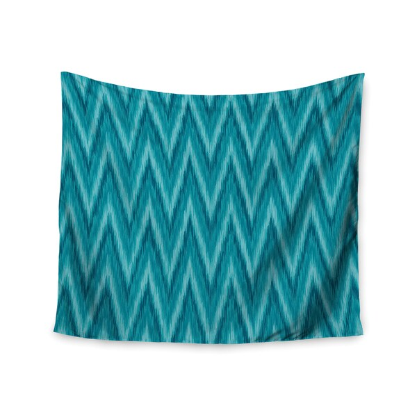 "Kess InHouse Amanda Lane ""Island Blue"" Aqua Navy Wall Tapestry 51'' x 60''"