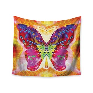 "Kess InHouse Anne LaBrie ""Butterfly Spirit"" Pink Yellow Wall Tapestry 51'' x 60''"