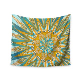 "Kess InHouse Art Love Passion ""Here Comes The Sun"" Blue Yellow Wall Tapestry 51'' x 60''"