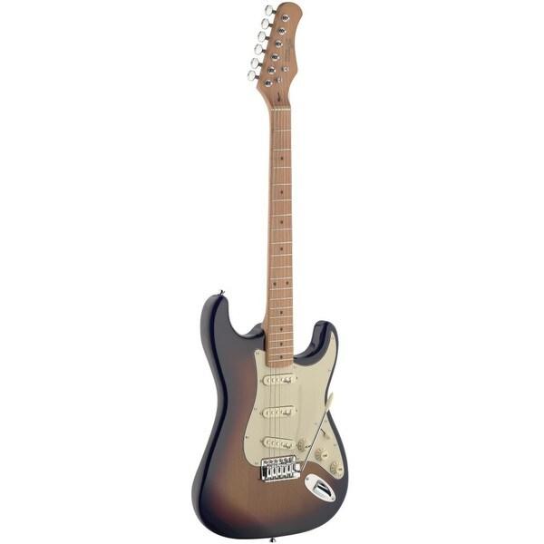 shop stagg sunburst vintage style electric guitar free shipping today 12100262. Black Bedroom Furniture Sets. Home Design Ideas