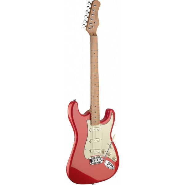 shop stagg ses50m frd fiesta red vintage style electric guitar free shipping today overstock. Black Bedroom Furniture Sets. Home Design Ideas