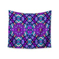 "Kess InHouse Art Love Passion ""Kaleidoscope Dream Continued"" Purple Pink Wall Tapestry 51'' x 60''"