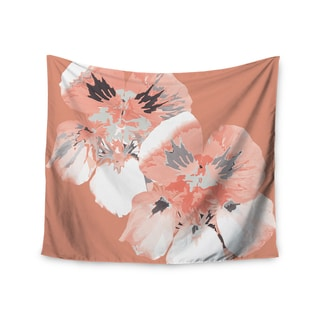 Kess InHouse Love Midge 'Graphic Flower Nasturtium Coral' 51x60-inch Wall Tapestry