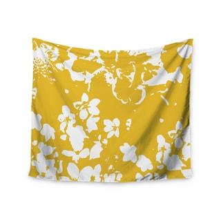 Kess InHouse Love Midge 'Helena Floral Yellow' 51x60-inch Wall Tapestry