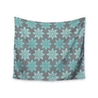 "Kess InHouse Anchobee ""Blue Christmas"" Blue Gray Wall Tapestry 51'' x 60''"