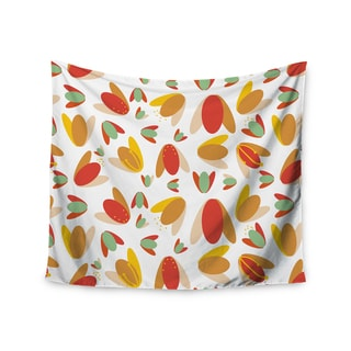 "Kess InHouse Love Midge ""70's Retro Floral"" Orange Nature Wall Tapestry 51'' x 60''"
