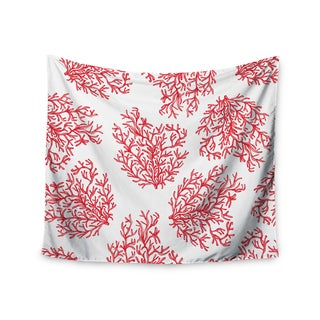 "Kess InHouse Anchobee ""Coral"" Red White Wall Tapestry 51'' x 60''"
