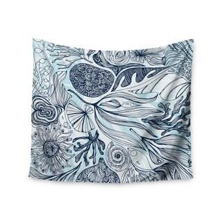 """Kess InHouse Anchobee """"Marina"""" Blue Aqua Wall Tapestry 51'' x 60''"""