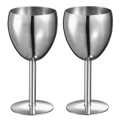Visol Antoinette Stainless Steel Wine Glass - Set of 2