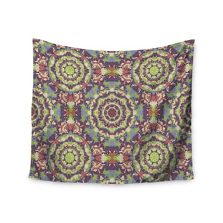 "Kess InHouse Allison Soupcoff ""Plum Lace"" Green Purple Wall Tapestry 51'' x 60''"