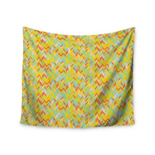"Kess InHouse Allison Soupcoff ""Chevron Pop "" Yellow Pattern Wall Tapestry 51'' x 60''"