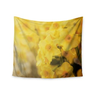 "Kess InHouse Angie Turner ""Dreamy Daffodils"" Yellow Nature Wall Tapestry 51'' x 60''"